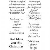Woodware - Christmas Cheer - Clear Magic Stamp Set - JGS404